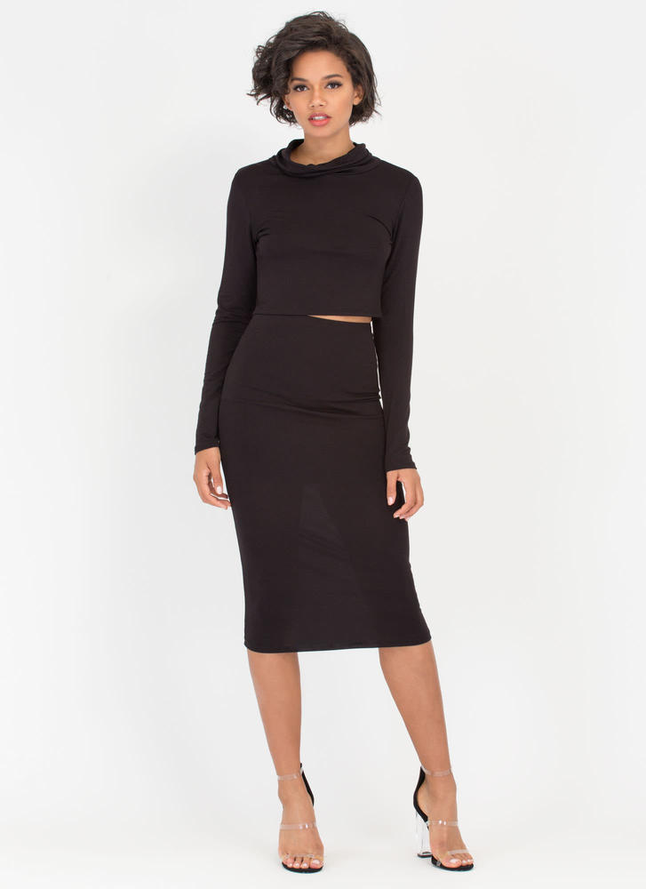 It's Simple Two-Piece Turtleneck Dress