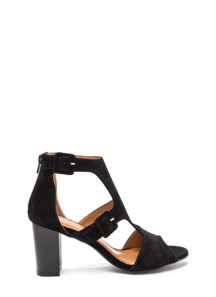 Essence Of Style Cut-Out Chunky Heels
