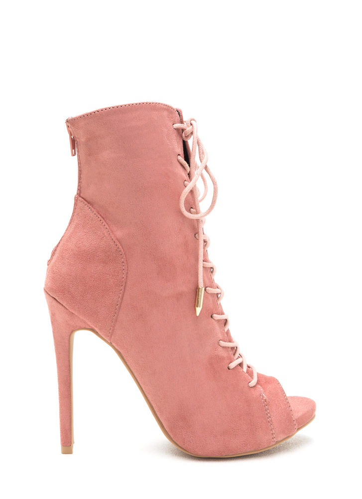 Attention Getter Lace-Up Booties
