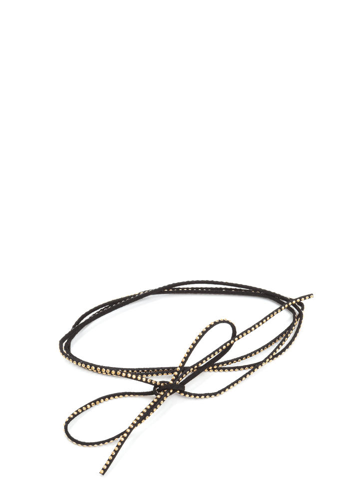 In My Layer Embellished Cord Necklace BLACK