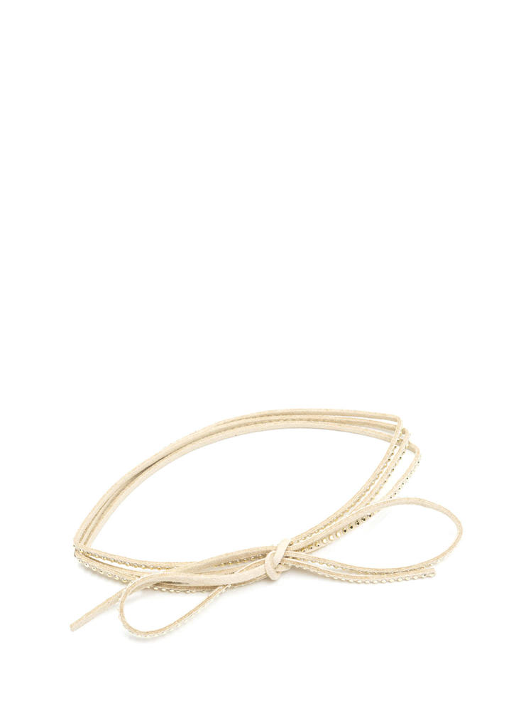 In My Layer Embellished Cord Necklace IVORY