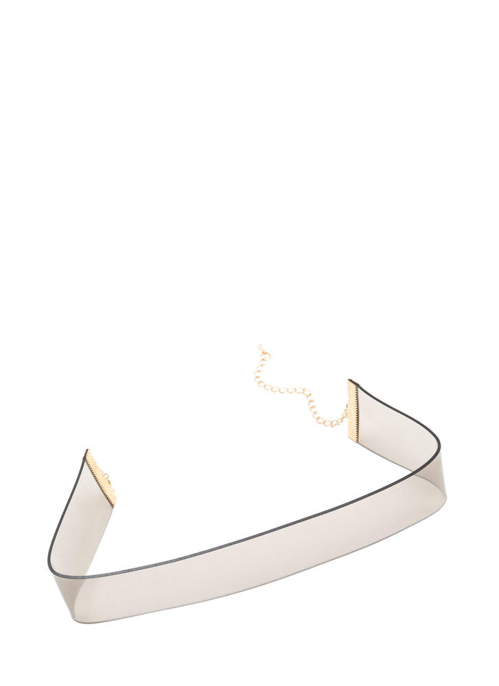 See Right Thru U Clear Choker BLACK