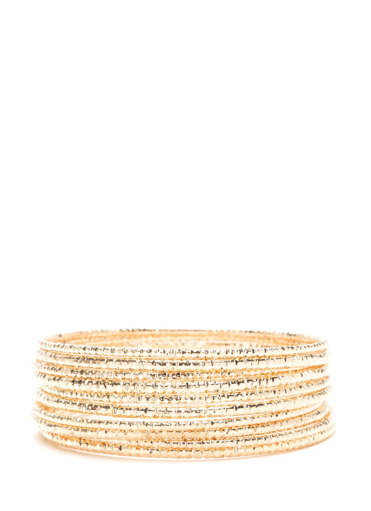 Gleam Of The Crop Bangle Set
