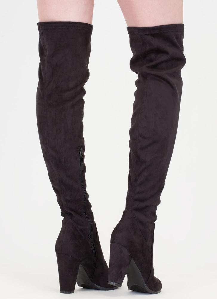 Thigh's The Limit Over-The-Knee Boots BLACK