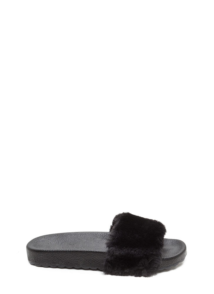 Furry Friends Platform Slide Sandals