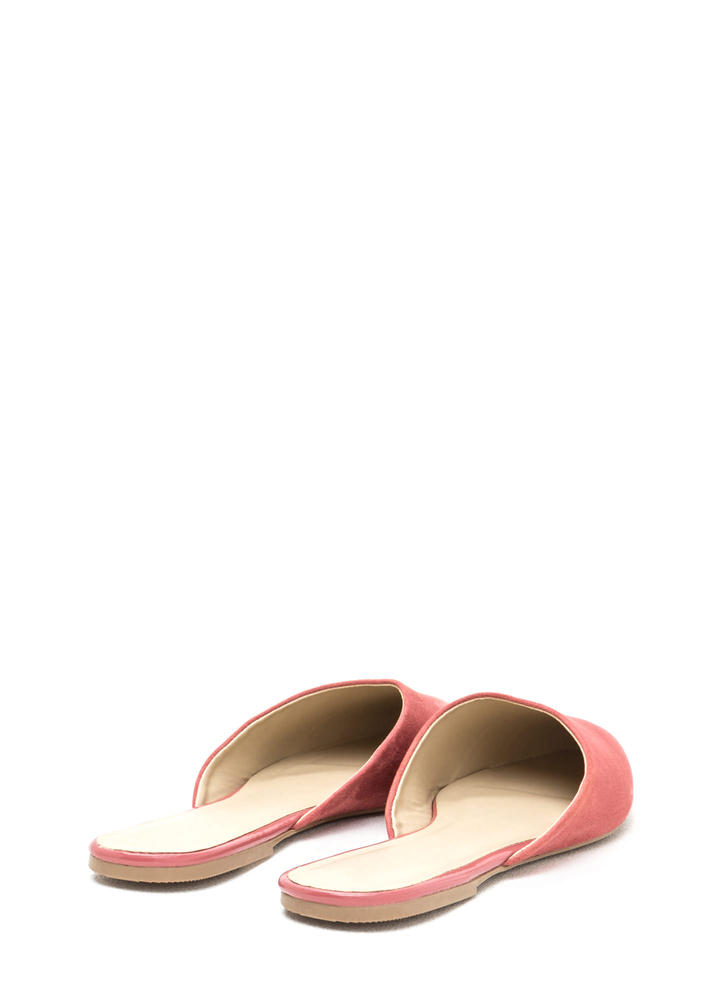 Point Taken Slip-On Faux Suede Flats CINNAMON