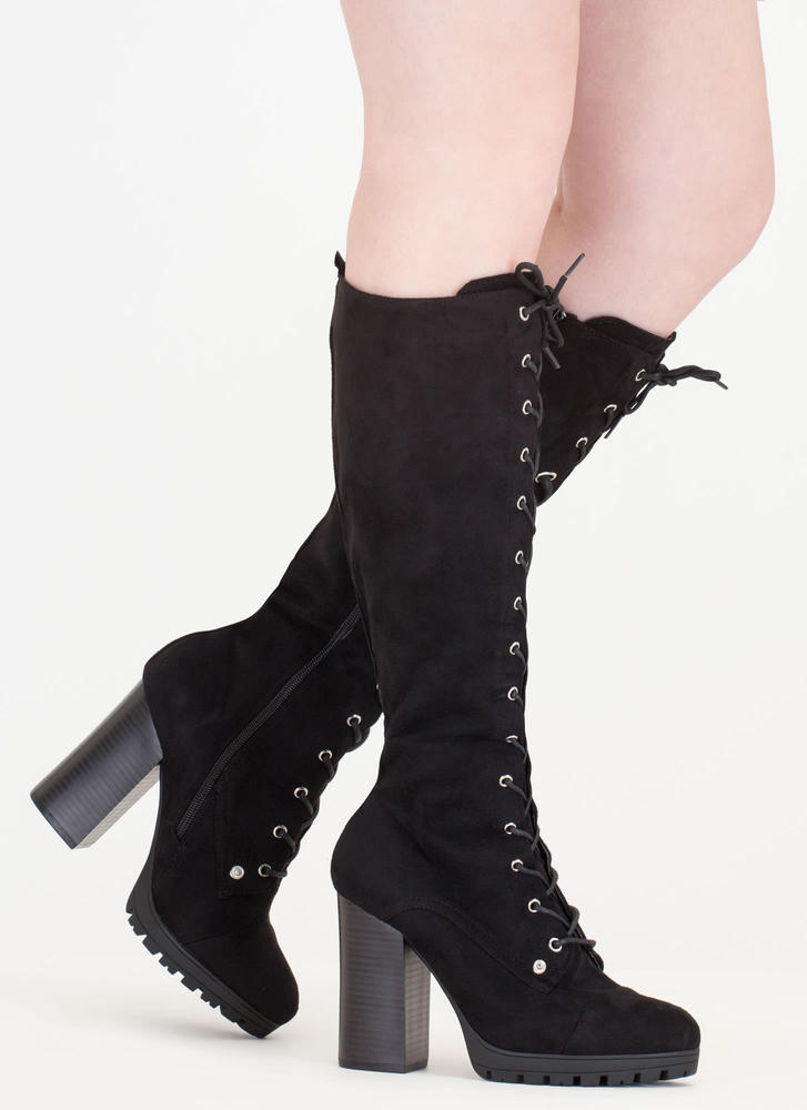The Climb Chunky Lace-Up Lug Boots