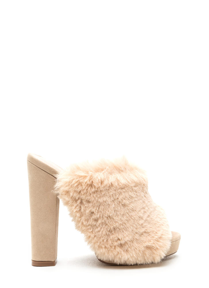 Friends Fur-ever Chunky Mule Heels