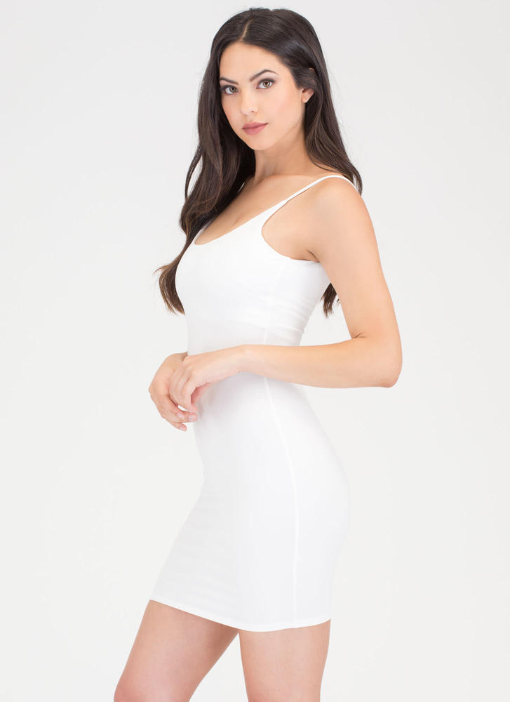 U Got This Scoop Tank Minidress WHITE