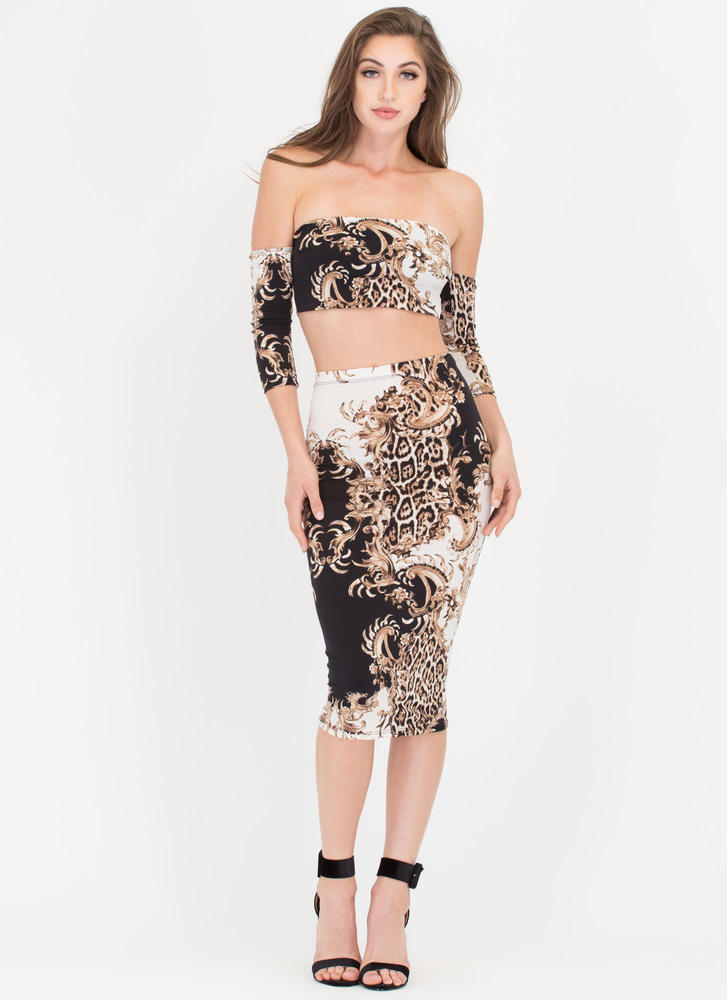 Fancy Feels Baroque Two-Piece Dress