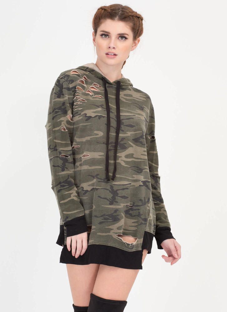 Camo Operation Distressed Sweatshirt