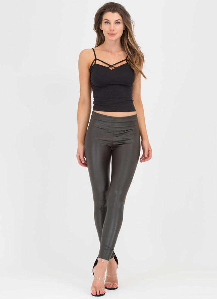 Ready To Rock Coated Leggings
