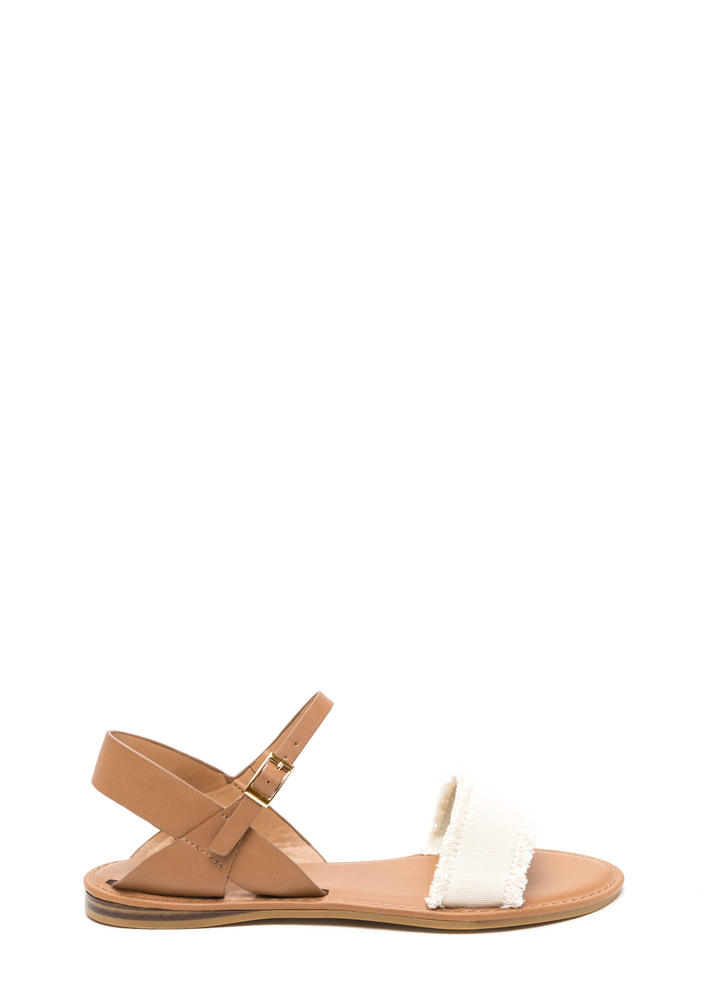 Beach Dweller Fringed Canvas Sandals