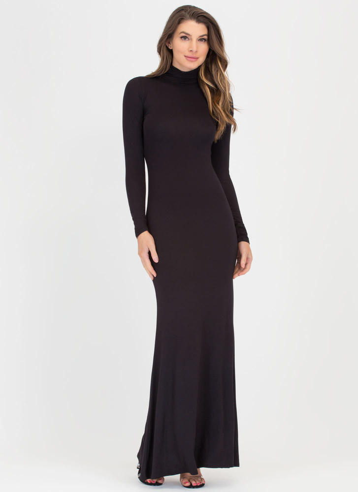 Here's To You Mockneck Maxi Dress