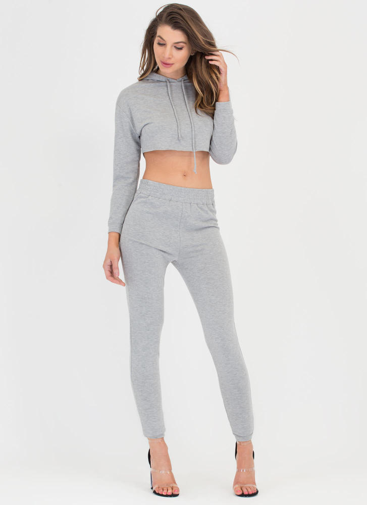 Relaxed Lifestyle Hoodie 'N Pants Set HGREY