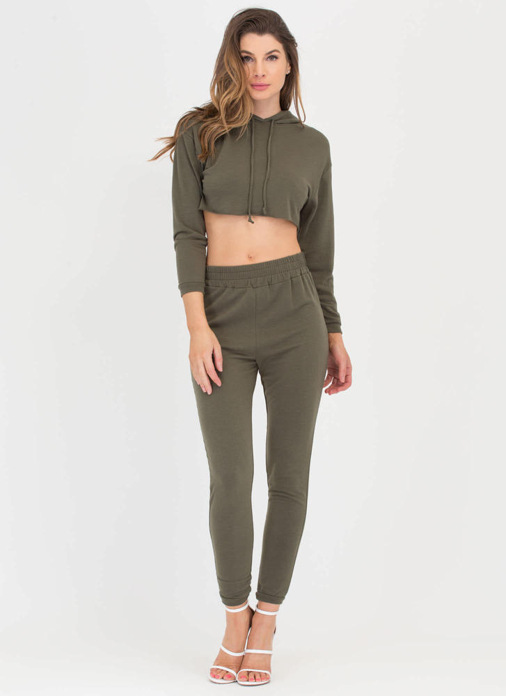 Relaxed Lifestyle Hoodie 'N Pants Set OLIVE
