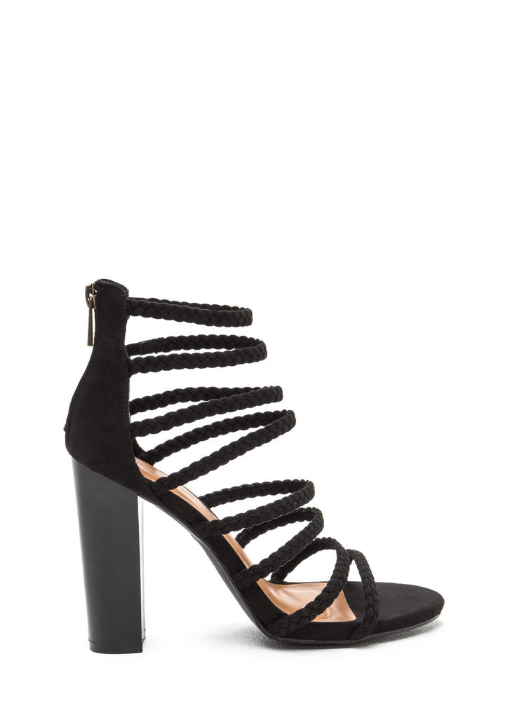 Eight's Enough Braided Strap Heels