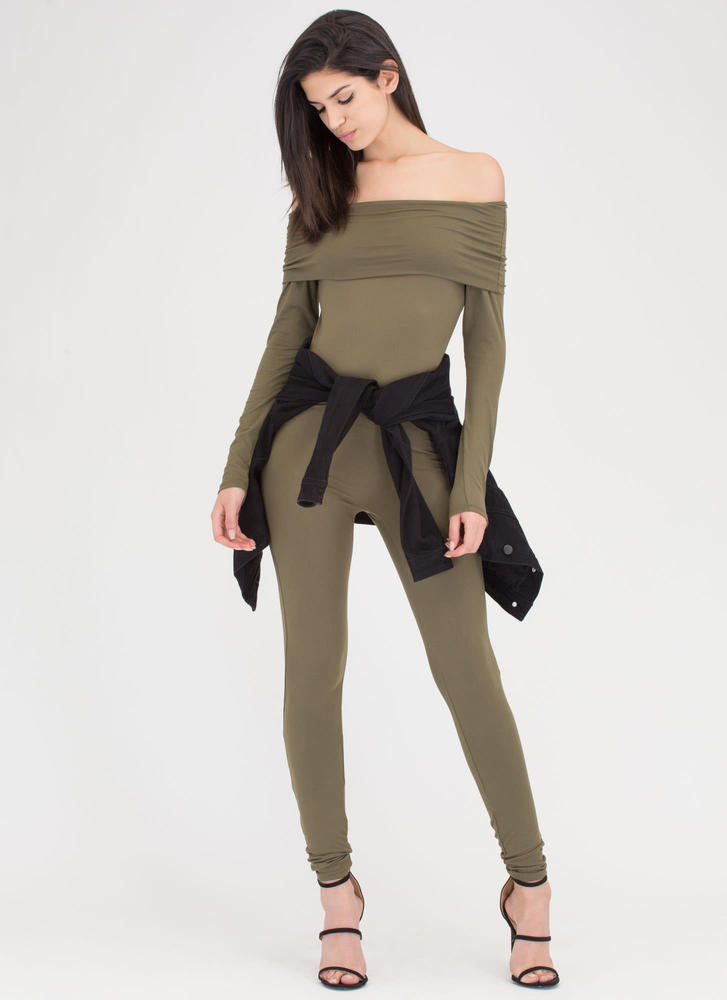 Chic Attack Off-Shoulder Full Bodysuit