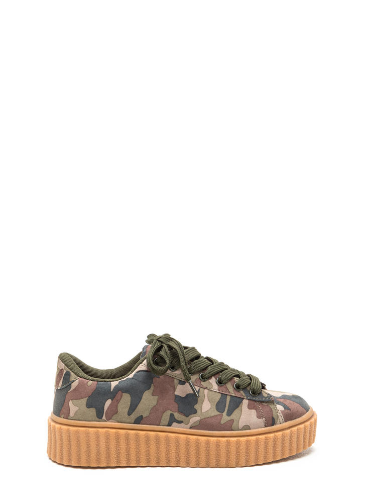 Camo Code Creeper Sneakers Image