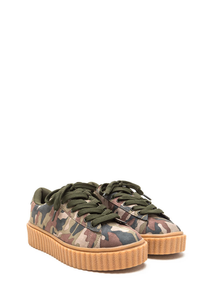 Camo Code Creeper Sneakers CAMOUFLAGE