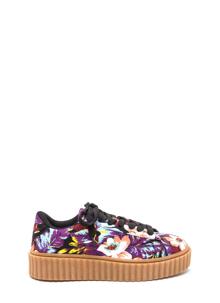 Pushing Petals Creeper Sneakers Image