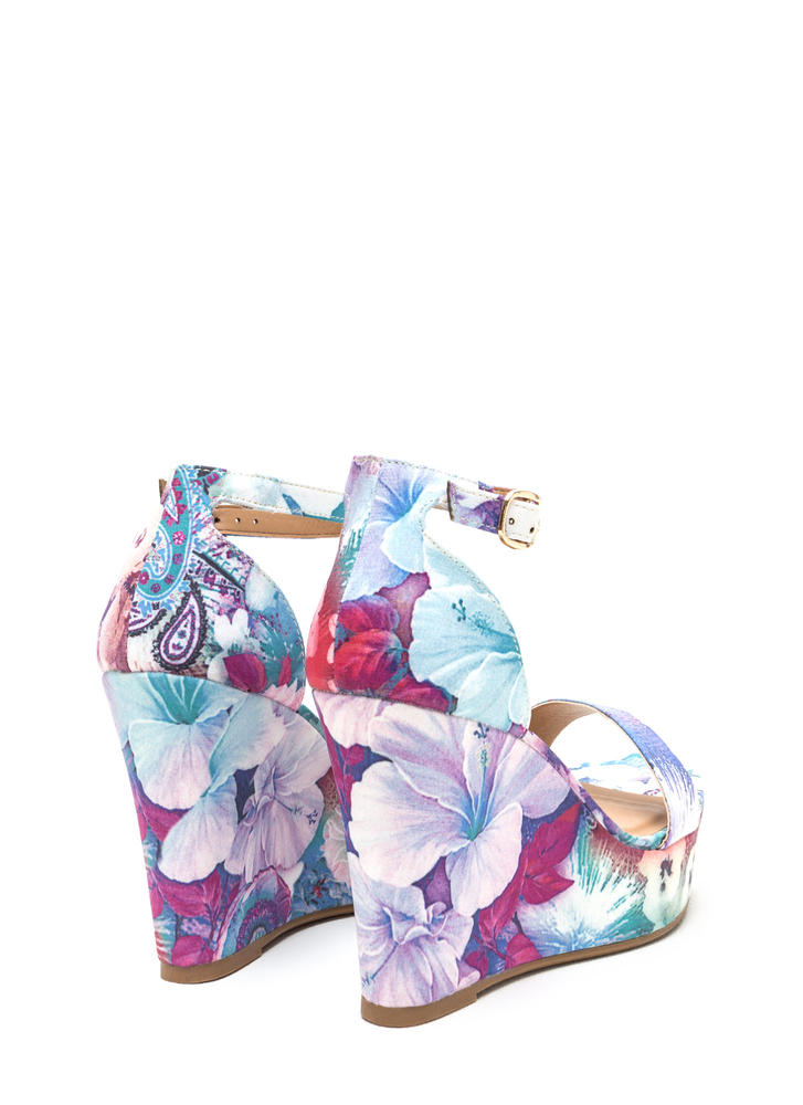 Print Impression Platform Wedges PURPLEMULTI