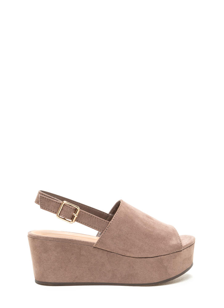 All Day Fave Slingback Faux Suede Wedges