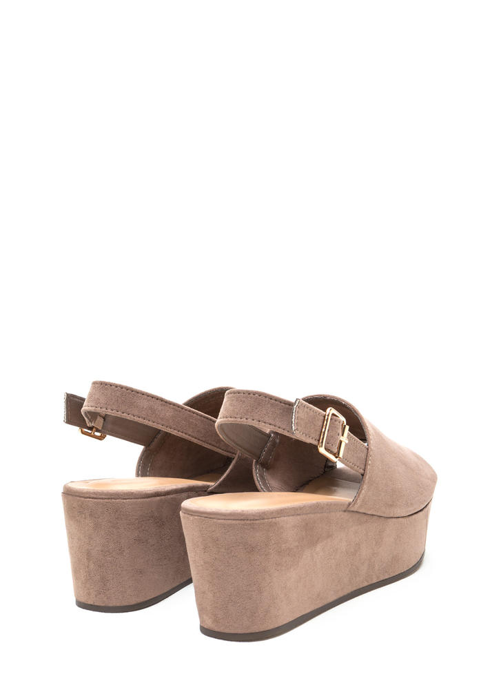 All Day Fave Slingback Faux Suede Wedges LTTAUPE