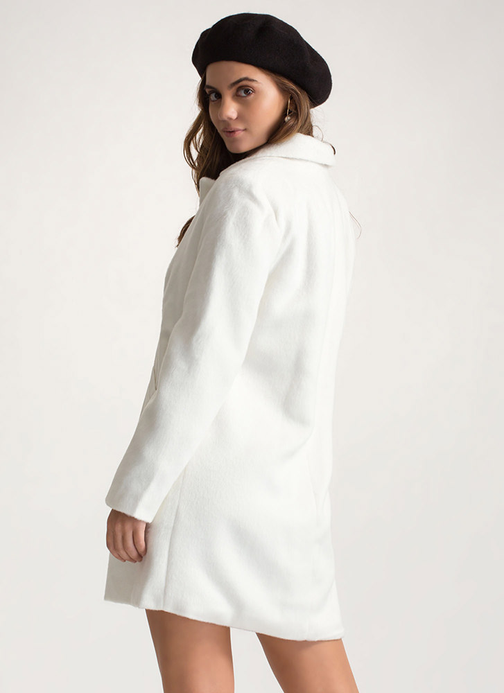Warming Trend Fuzzy Peacoat WHITE