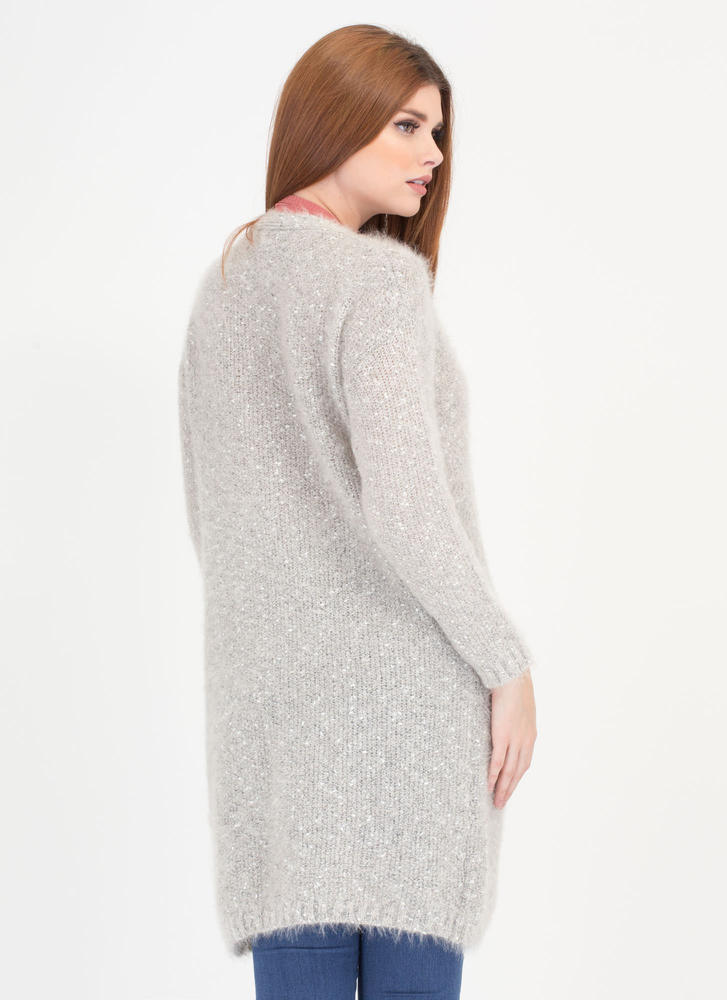 Knit Me Up Longline Cardigan GREY