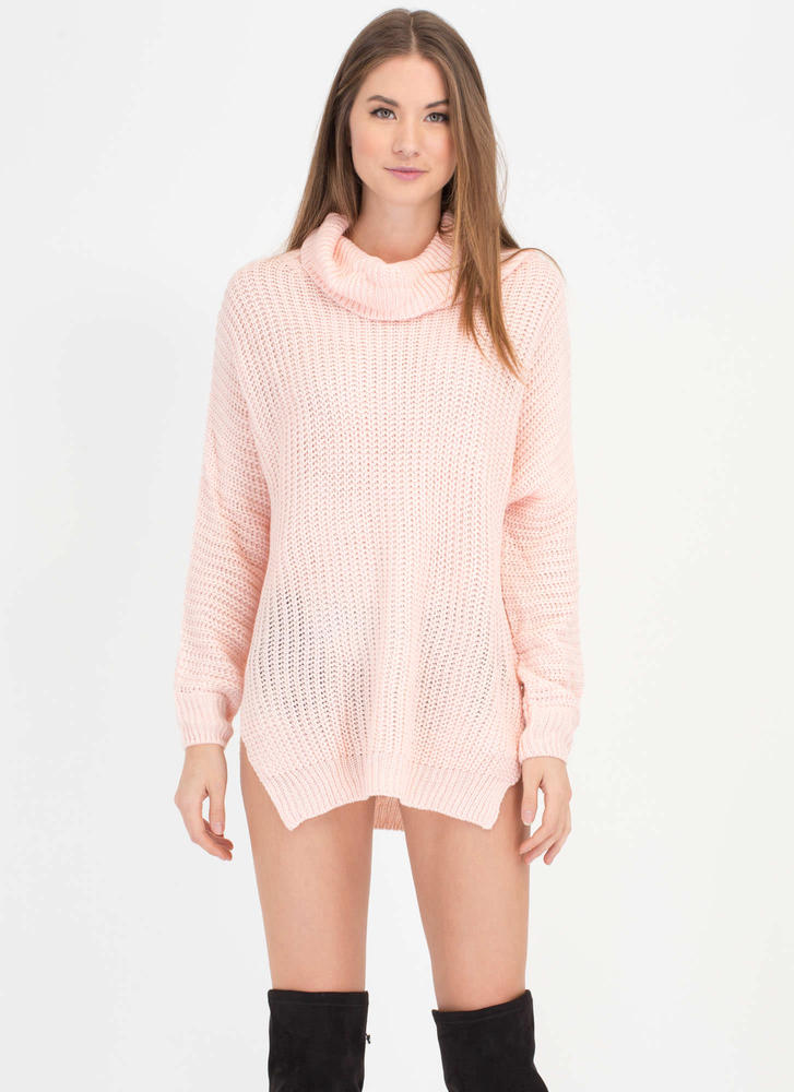 Comin' Up Cozy Chunky Turtleneck Sweater