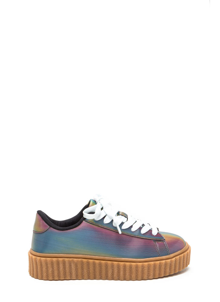 Rainbow Illusion Creeper Sneakers