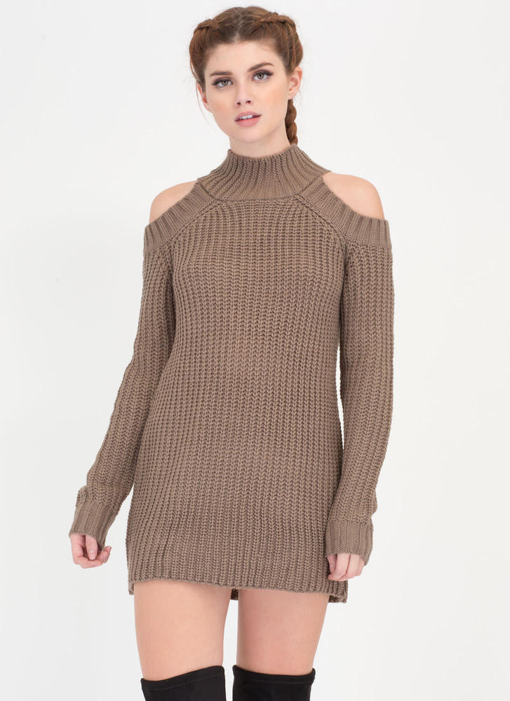 Hot Hustle Cold Shoulder Sweater