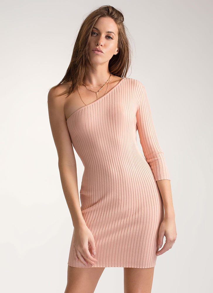 One-Up Asymmetrical Sweater Dress