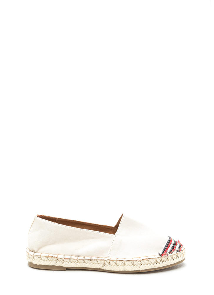 On Holiday Canvas Espadrille Flats BEIGE (Final Sale)