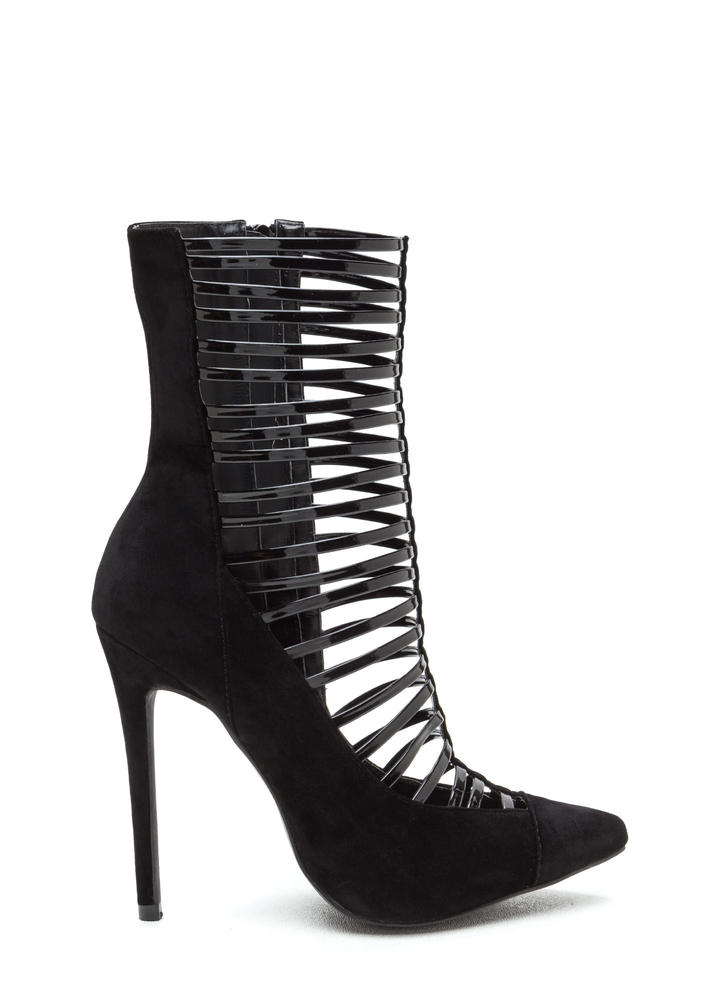Ladder Up Pointy Extra Tall Booties
