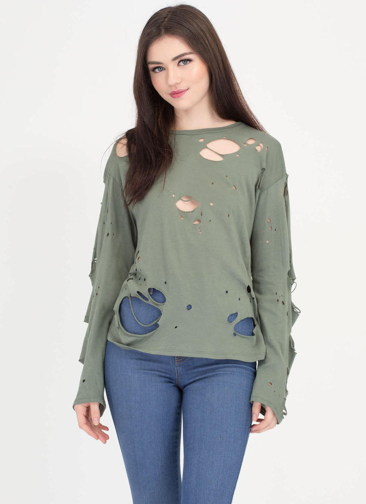 Hole Package Distressed Top