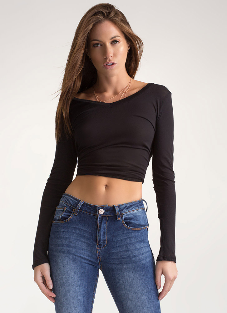 Everyday Thing Long-Sleeved Top BLACK