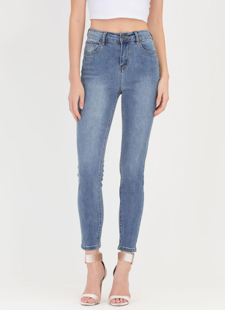 Lighten Up Washed Skinny Jeans