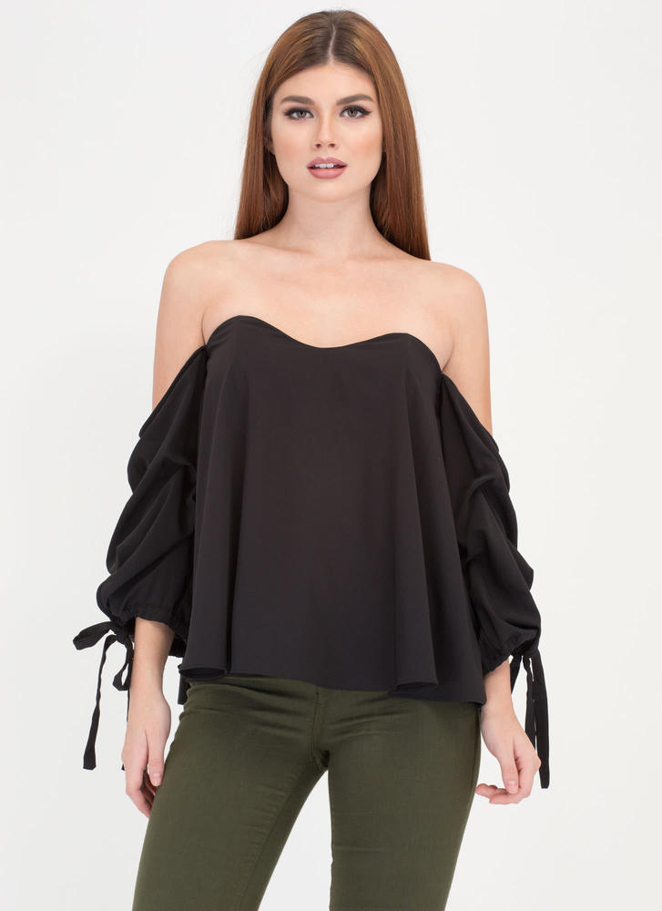 Just The Thing Tied Off-Shoulder Top