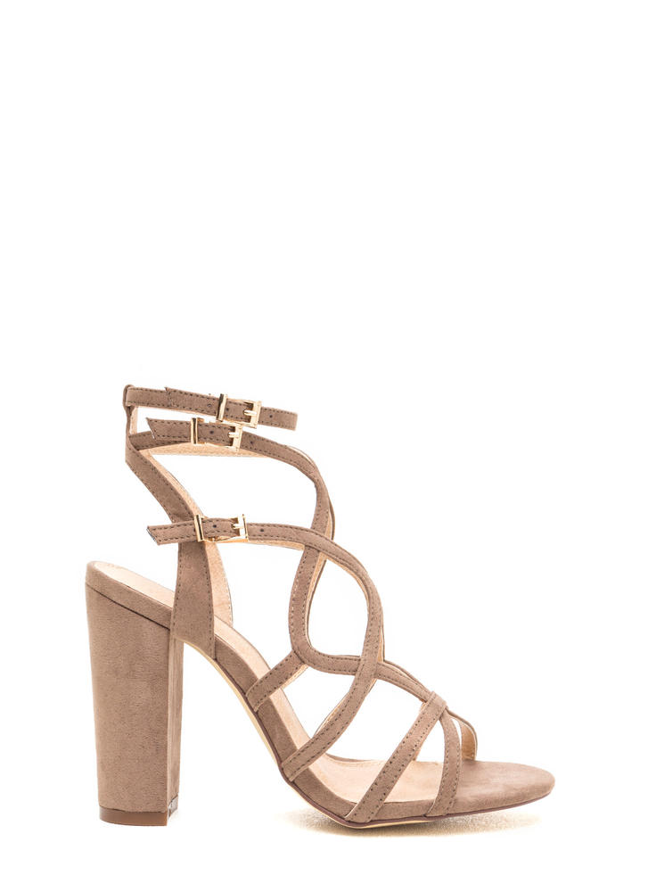 Go Figure Eight Chunky Caged Heels