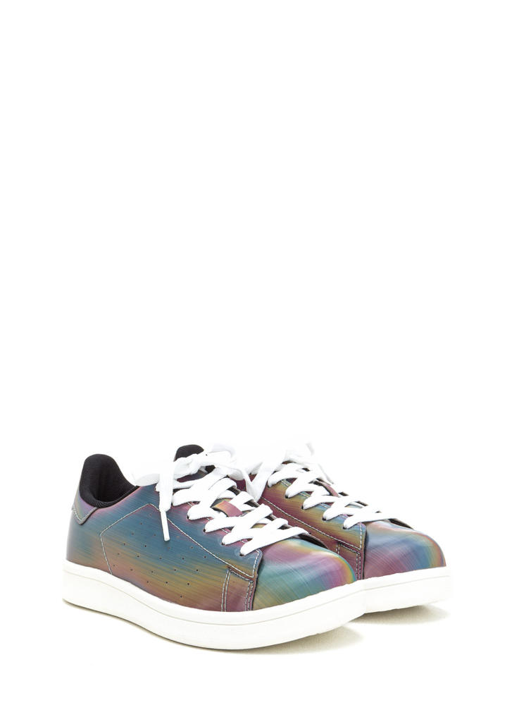Rainbow Fantasy Lace-Up Sneakers RAINBOW