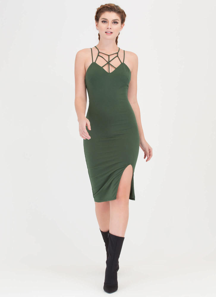 Some Like It Haute Caged Midi Dress