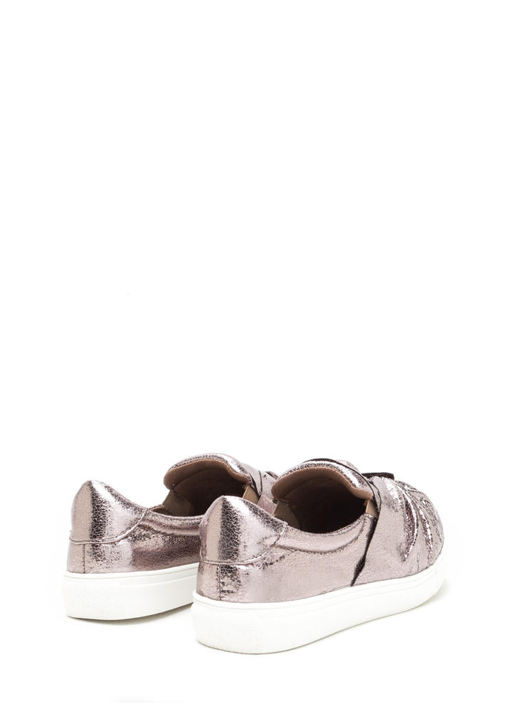 Knot Your Average Metallic Sneakers PEWTER