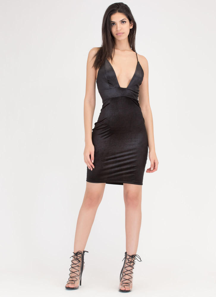 Glittery Satiny Velvety Strappy Dress