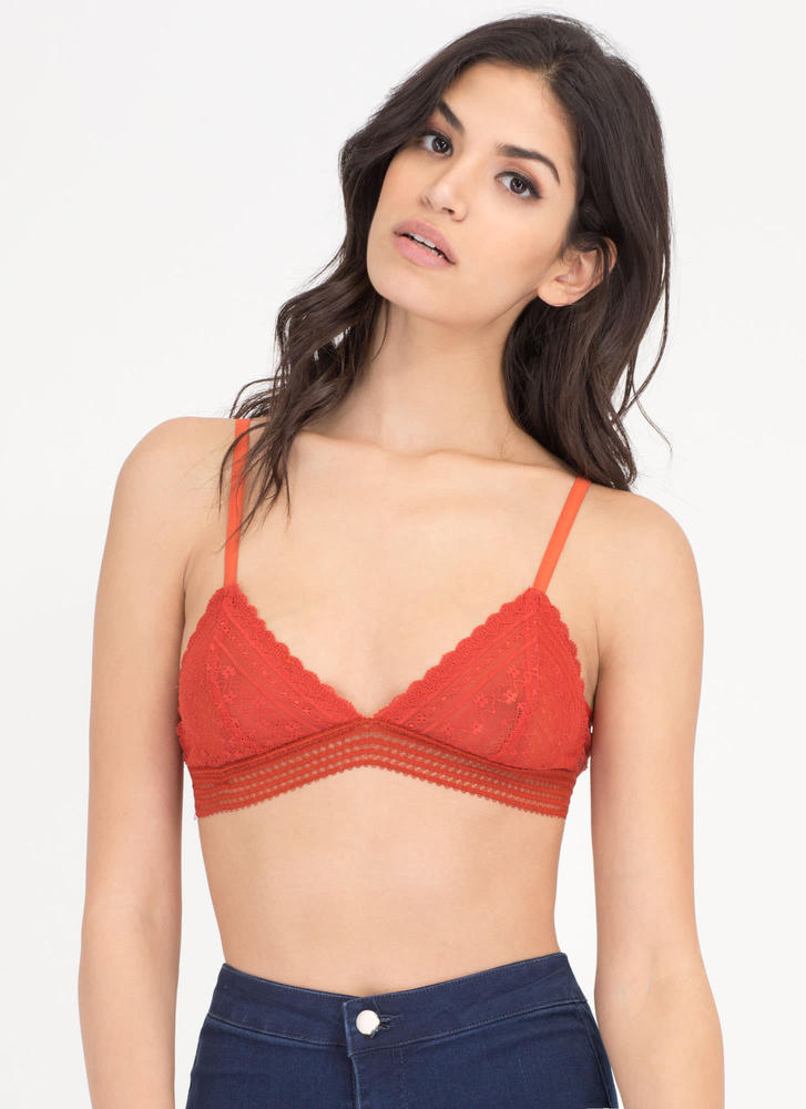 Lace To Lace Triangle Bralette