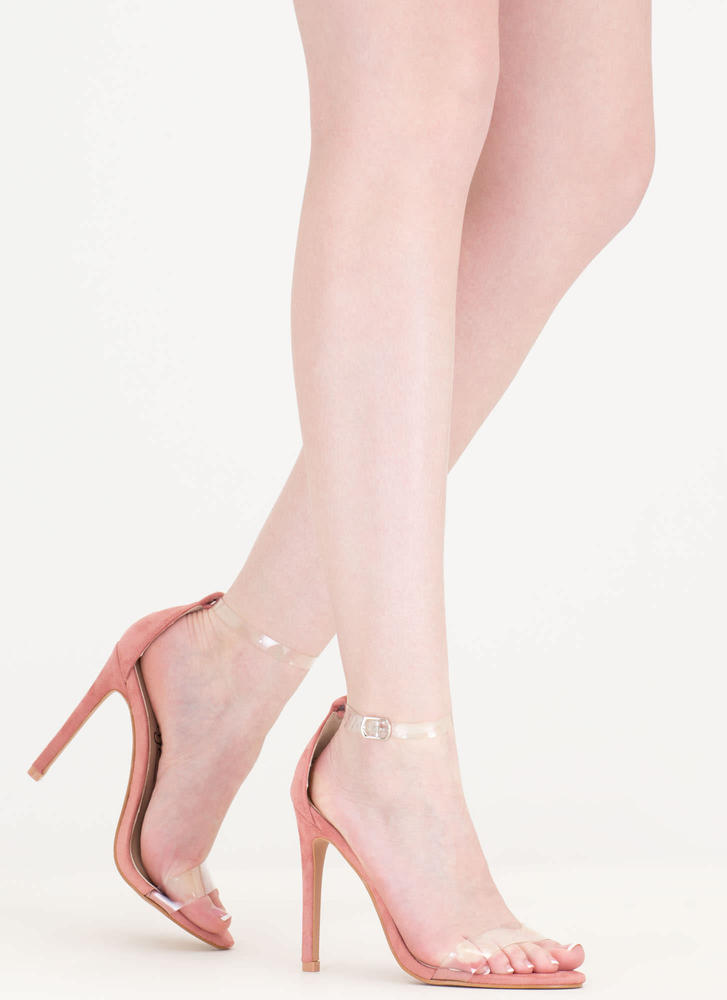Let's Clear The Air Ankle Strap Heels BLUSH - GoJane.com