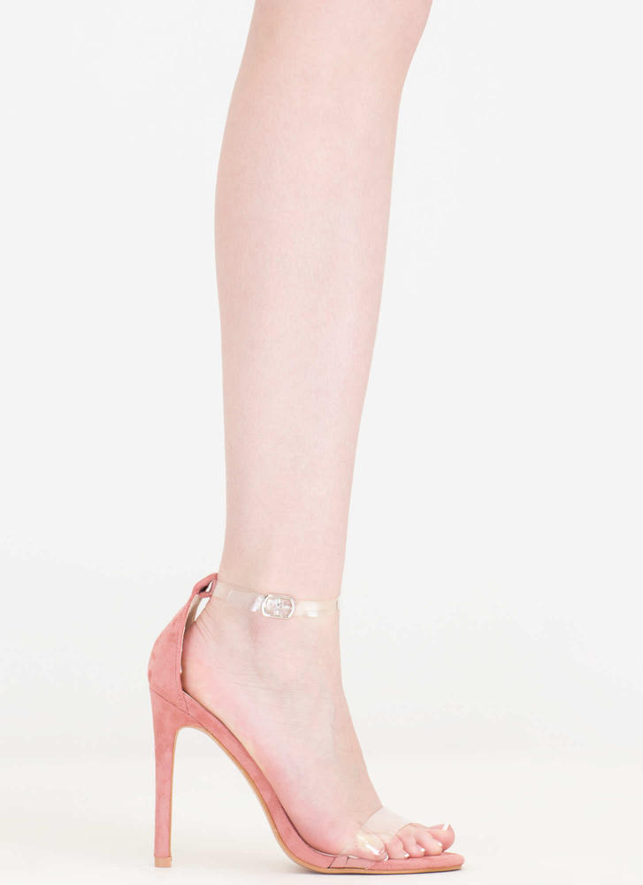 Let's Clear The Air Ankle Strap Heels BLUSH
