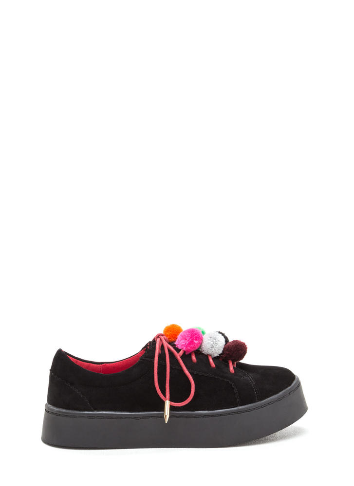 Pom-Pom Parade Lace-Up Sneakers