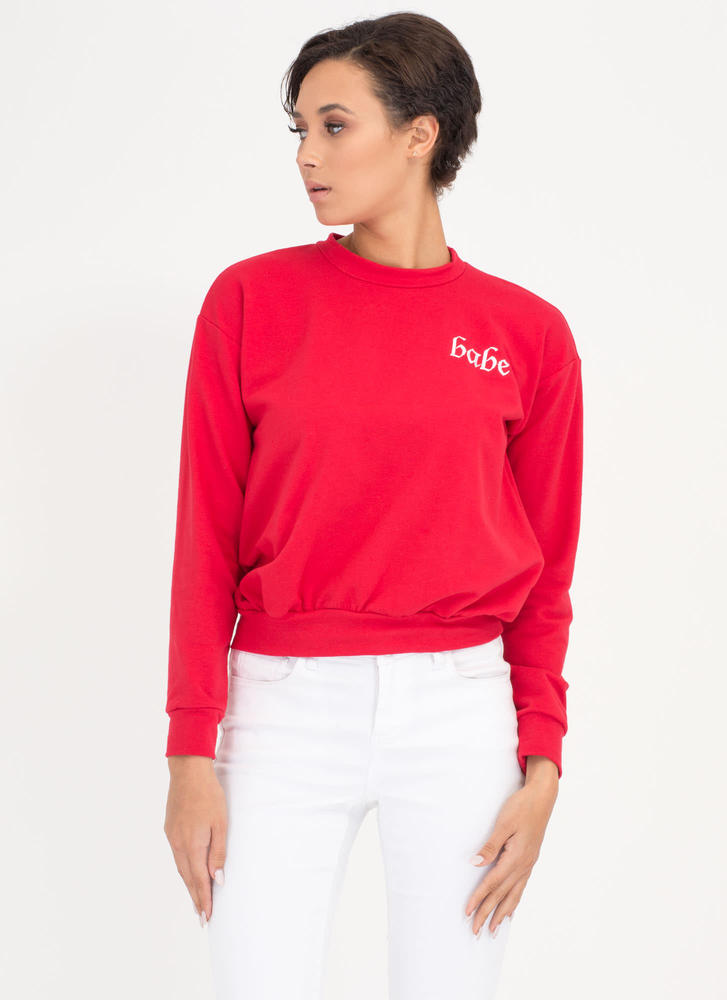 Total Babe Magnet Graphic Sweatshirt